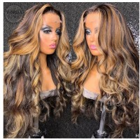 Highlight Color Body Wave Lace wig