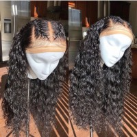 curly Human Hair Wigs For Black Women Pre Plucked Brazilian Remy Hair Wigs Bleached Knots Baby Hair
