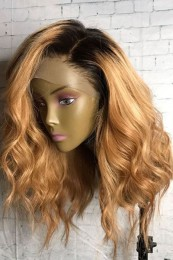 Body Wave Ombre 1B/27 Ombre Color  For Black Women Remy Hair Brazilian Human Hair Wigs Pre Plucked