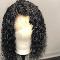 curly wig 10A Grade Lace Front human hair Wigs Full density Virgin Brazilian Human Hair wigs Full Lace Wig in Natural baby hair hairline