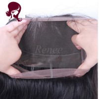 360 Lace Frontal closure straight hair Brazilian virgin hair