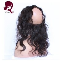 360 lace frontal with 3 bundles body wave brazilian virgin hair
