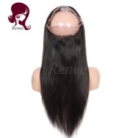 360 Lace Frontal closure straight hair Brazilian virgin hair