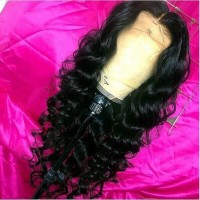 loose wave Human Hair Wigs For Black Women Pre Plucked Brazilian Remy Hair Wigs Bleached Knots Baby Hair