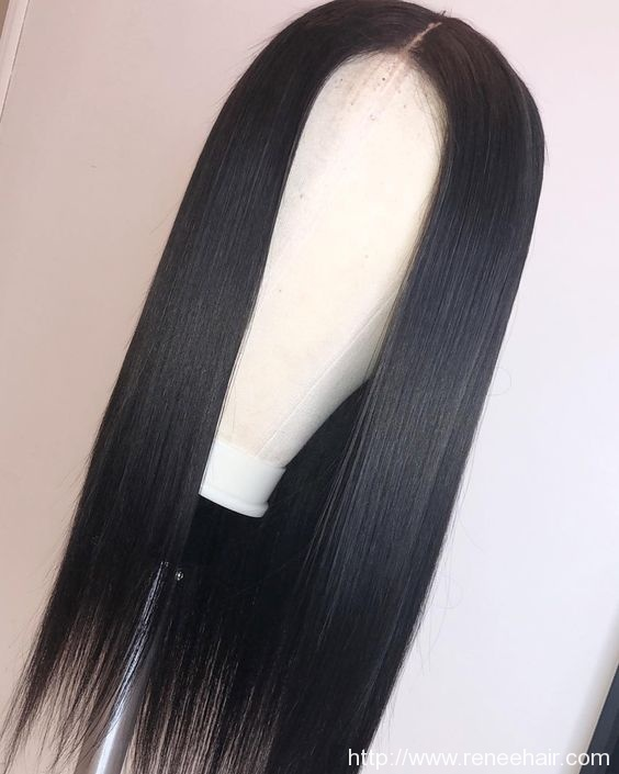 Straight Human Hair Wigs For Black Women Brazilian Remy Hair 8″-24″Pre Plucked Natural Hairline