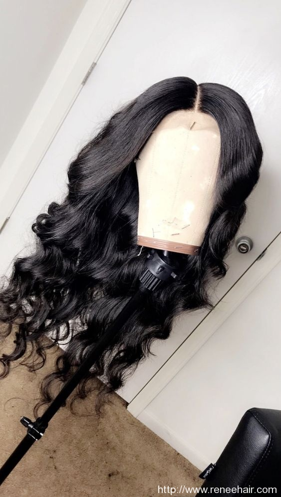 Brazilian Virgin Full Lace Human Hair Wigs Natural Baby Hair Middle Part Glueless Lace Front Wigs Front Lace Wig For Black Woman