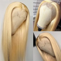 Ombre 613 Blonde straight lace wig ,transparent lace