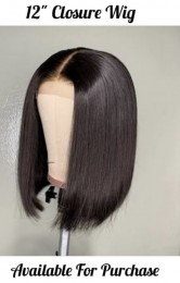 straight bob 4×4 closure wig lace wig bob style can be dye or curl