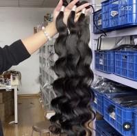 Brazilian virgin hair body wave  3 bundles natural black color free shipping