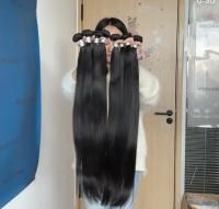 Brazilian virgin hair straight 3 bundles natural black color free shipping