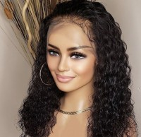 New Fashion Sexy Brazilian Virgin Human Hair Glueless Lace Front Wigs Natural Wave Full Lace Human Hair Wig With Bangs
