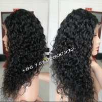 water wave lace front wig 100% human hair can dye,bleach or curl