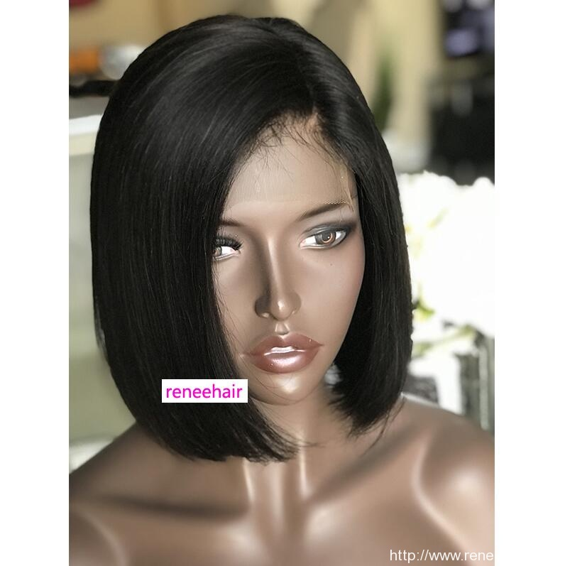reneehair 4×4 closure wig lace wig bob style can be dye or curl