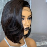 Bob Wig Straight Lace Front Wig Remy Hair Brazilian Human Hair Wigs Pre Plucked