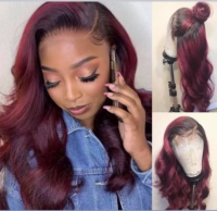 Ombre 1b/burgundy Body Wave Lace wig