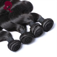 Barzilian virgin hair body wave 4 bundles natural black color free shipping