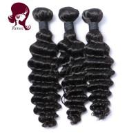 Brazilian virgin hair deep wave 3 bundles natural black color free shipping
