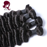Barzilian virgin hair deep wave 4 bundles natural black color free shipping