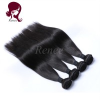 Barzilian virgin hair silky straight 4 bundles natural black color free shipping
