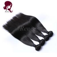 Barzilian virgin hair silky straight 4 bundles natural black color free shipping