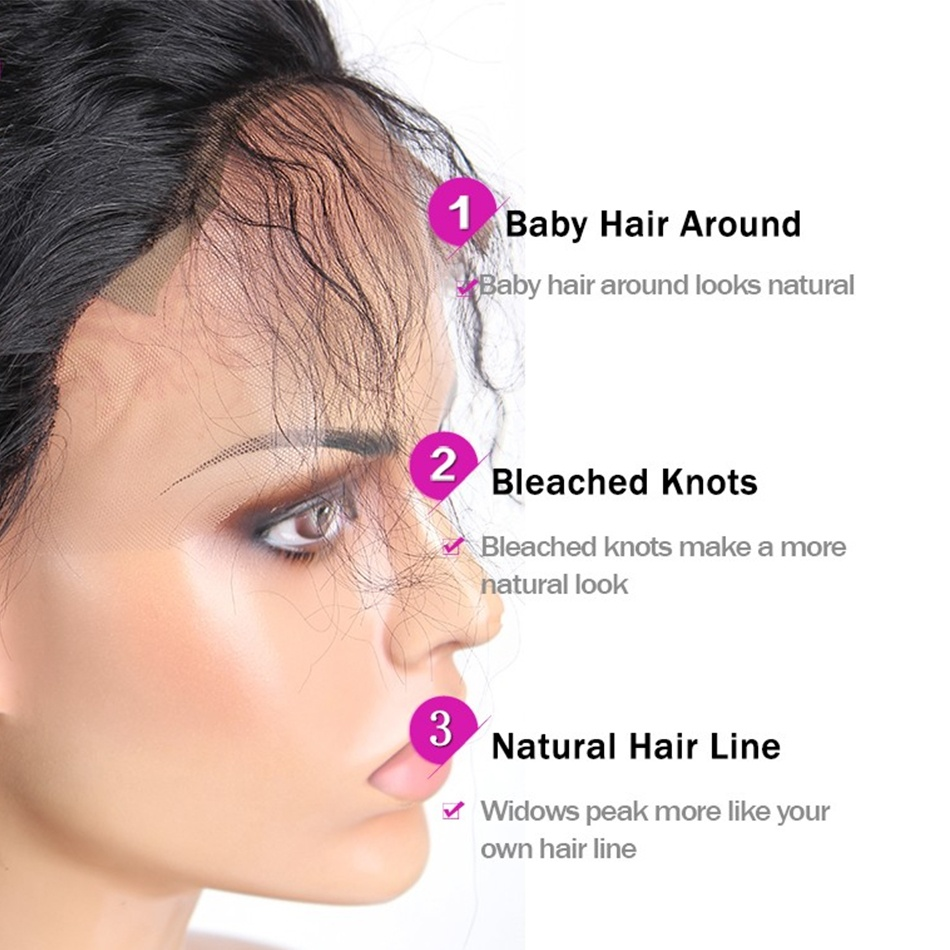 Loose Wave Human Hair Wigs With Baby Hair Brazilian Remy Hair Wigs
