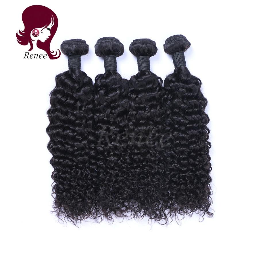 Malaysian virgin hair deep curly 4 bundles natural black color free shipping