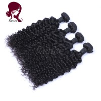 Malaysian virgin hair deep curly 4 bundles natural black color free shipping