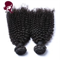 Peruvian virgin hair kinky curly 4 bundles natural black color free shipping