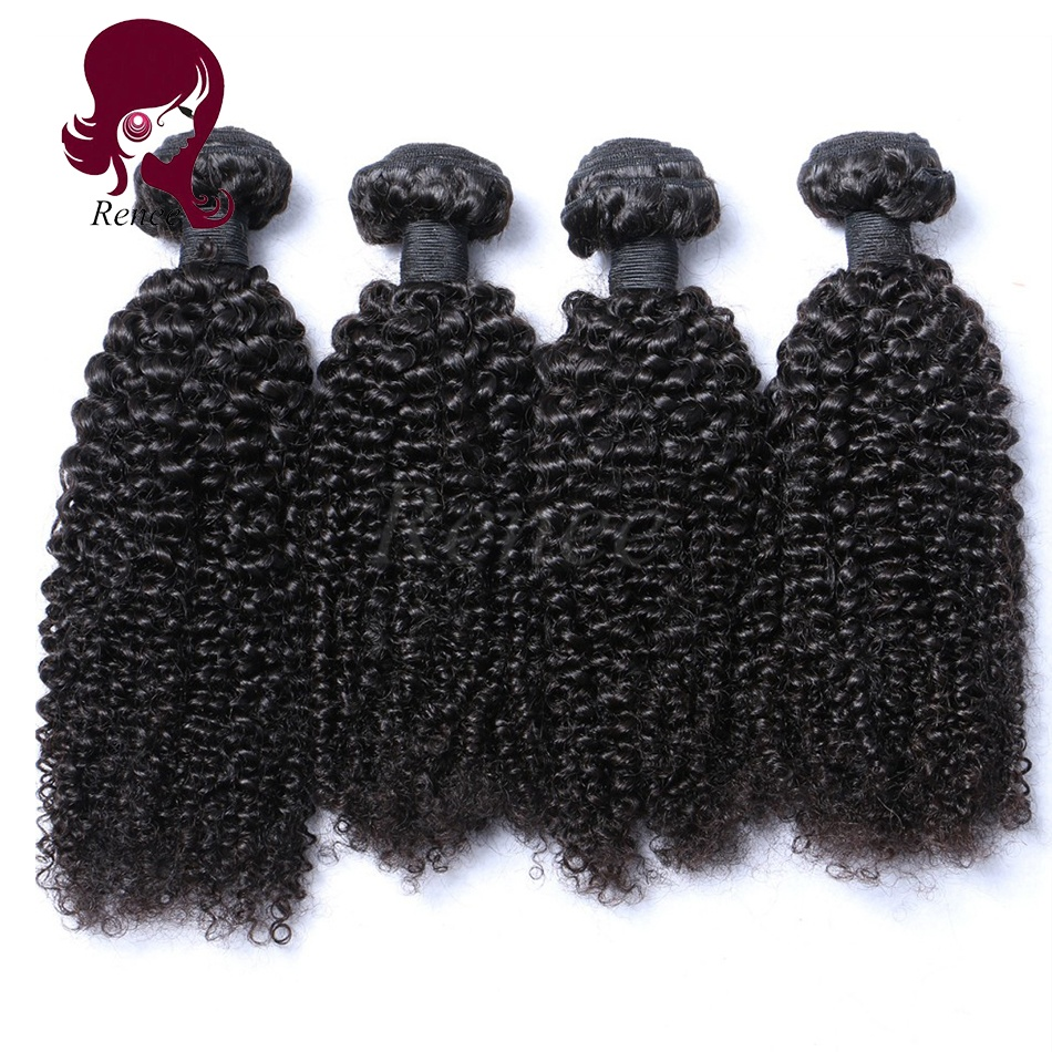 Malaysian virgin hair kinky curly 4 bundles natural black color free shipping