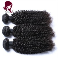 Peruvian virgin hair kinky curly 3 bundles natural black color free shipping
