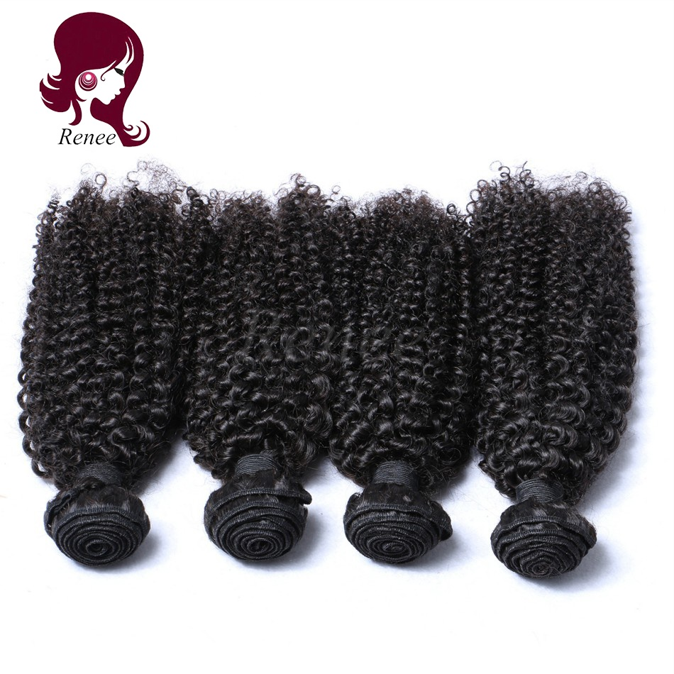 Barzilian virgin hair kinky curly 4 bundles natural black color free shipping