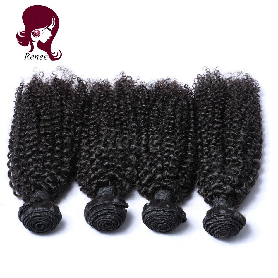 Peruvian virgin hair kinky curly 4 bundles natural black color free shipping
