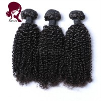 Malaysian virgin hair kinky curly 3 bundles natural black color free shipping