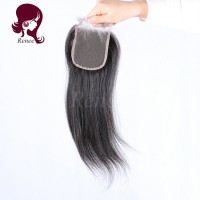 Barzilian virgin hair lace closure silky straight natural black color free shipping