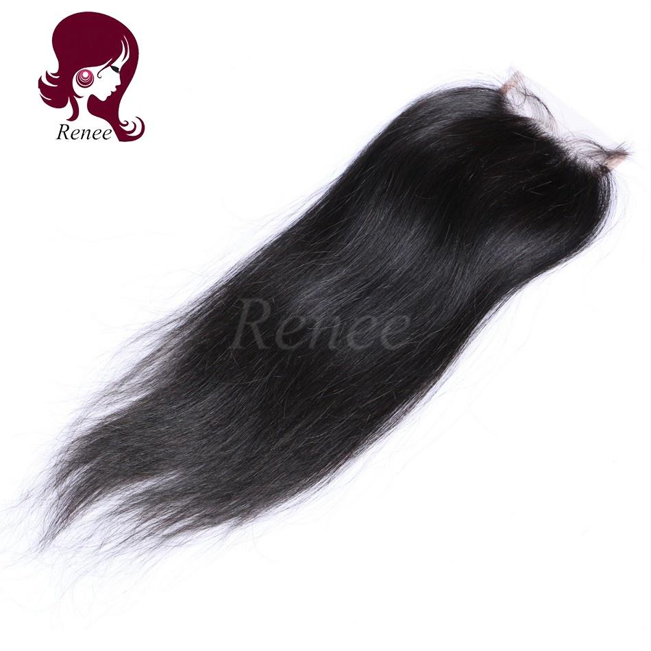 Barzilian virgin hair lace closure silky straight natural black color free shipping