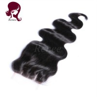 Barzilian virgin hair lace closure body wave natural black color free shipping