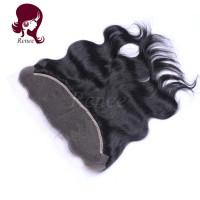 Barzilian virgin hair lace frontal closure body wave natural black color free shipping