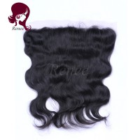 Barzilian virgin hair lace frontal closure body wave natural black color free shipping