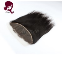 Barzilian virgin hair lace frontal closure silky straight natural black color free shipping