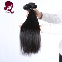 Malaysian virgin hair silky straight 4 bundles natural black color free shipping