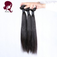 Malaysian virgin hair silky straight 3 bundles natural black color free shipping