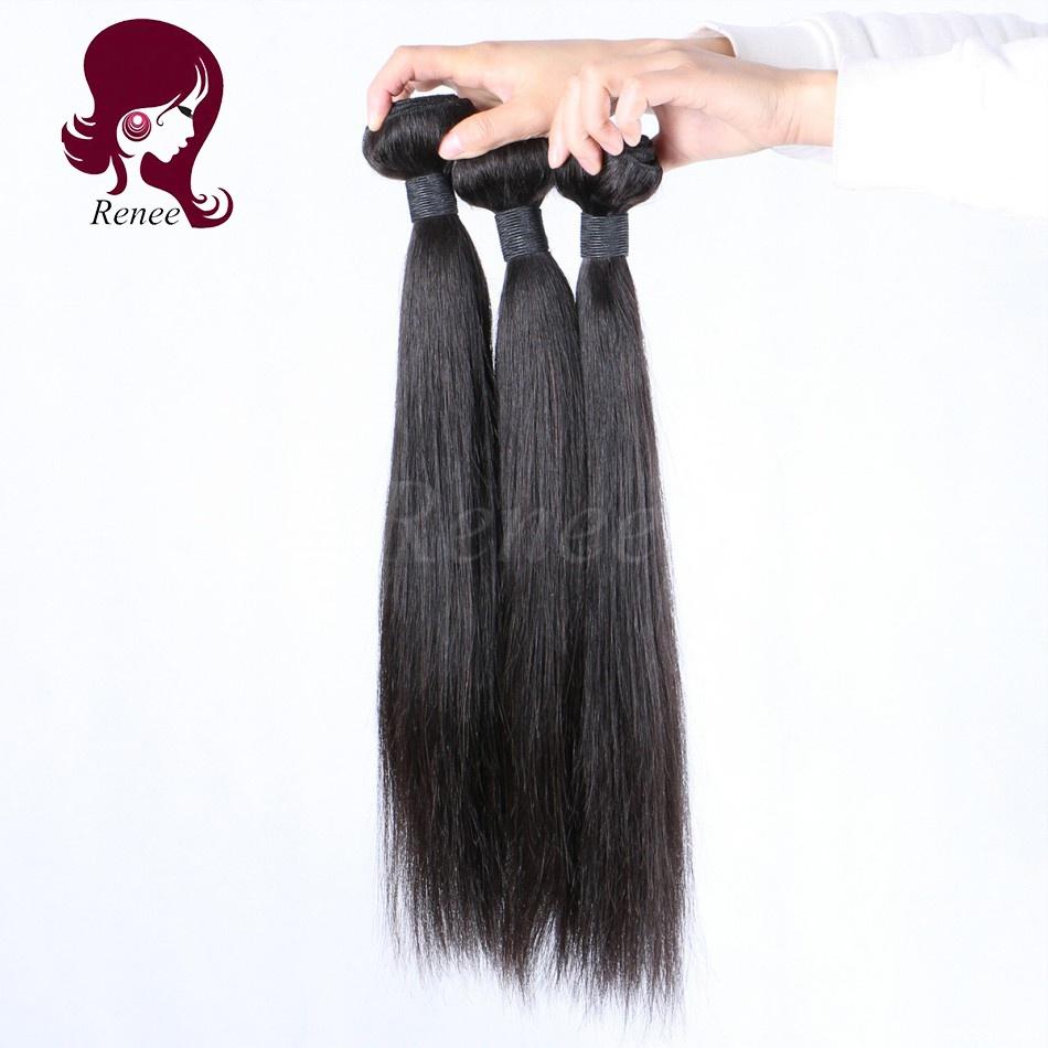Malaysian virgin hair silky straight 3 bundles natural black color free shipping