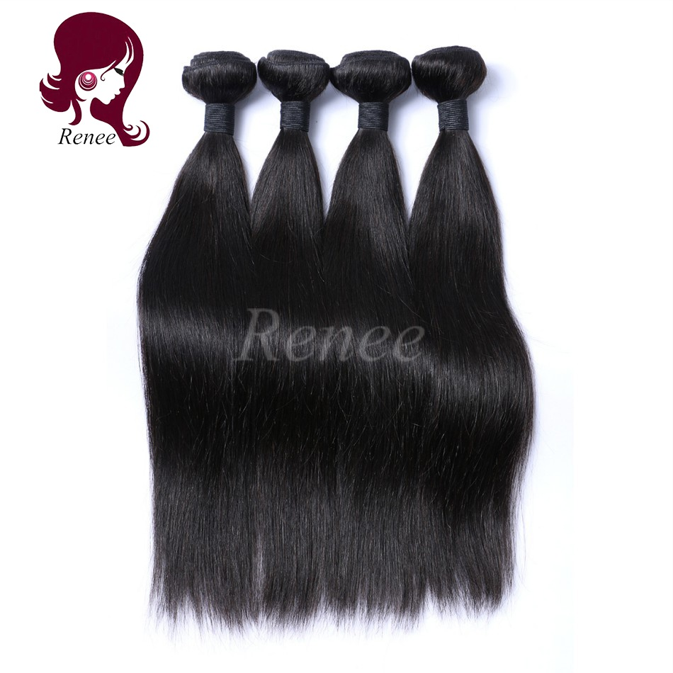 Malaysian virgin hair silky straight 4 bundles natural black color free shipping