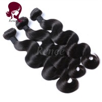 Malaysian virgin hair body wave 3 bundles natural black color free shipping
