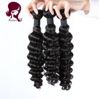 Malaysian virgin hair deep wave 3 bundles natural black color free shipping