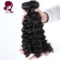 Malaysian virgin hair deep waves 4 bundles natural black color free shipping