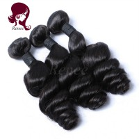 Malaysian virgin hair loose wave 3 bundles natural black color free shipping