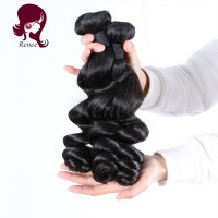 Malaysian virgin hair loose wave 4 bundles natural black color free shipping