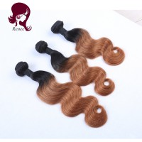 1B/30 color ombre brazilian virgin hair body wave 3 bundles