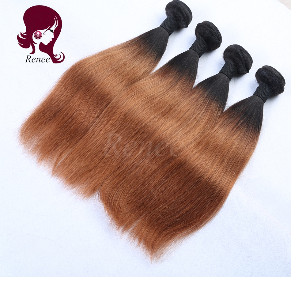 1B/30 color ombre brazilian virgin hair straight 3 bundles
